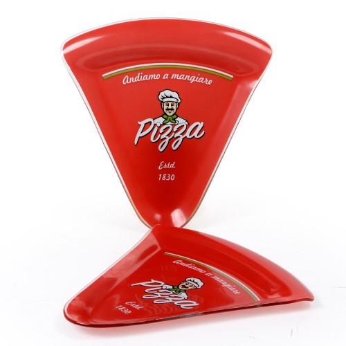 Conjunto 02 pratos pedaço de pizza