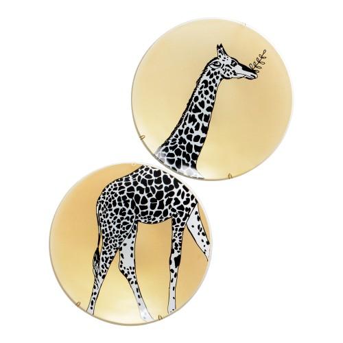 Conjunto de pratos de parede Girafa