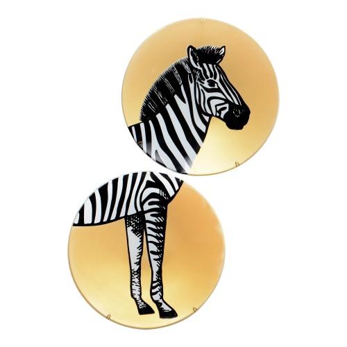 Conjunto de pratos de parede Zebra