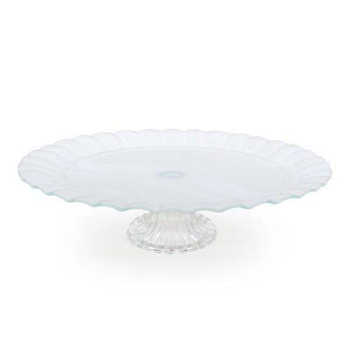 Boleira de vidro grande branca