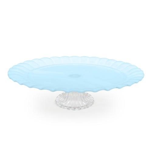Boleira de vidro grande azul