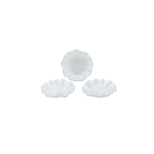 Conjunto 03 bowls pequeno de vidro branco