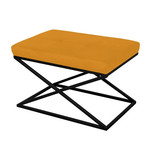 Peseira de ferro preto com tecido laranja