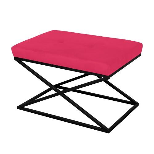 Peseira de ferro preto com tecido rosa