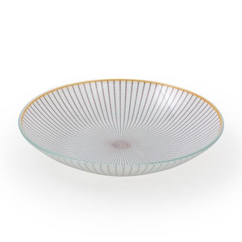 Bowl de Vidro Vortex Marrom