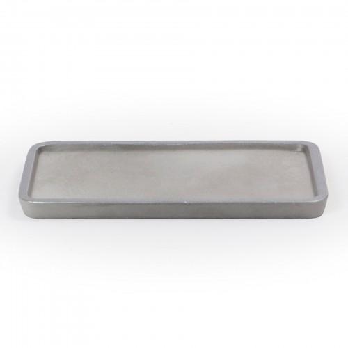 Bandeja retangular de Concreto Prata