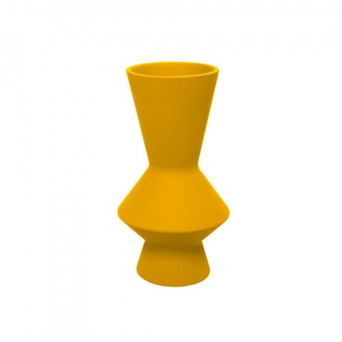 Vaso Lunático Médio Amarelo