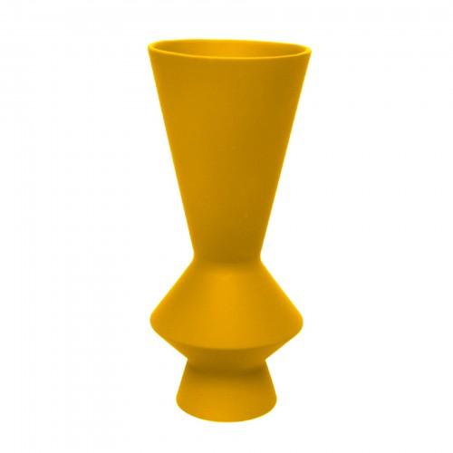 Vaso Lunático Grande Amarelo