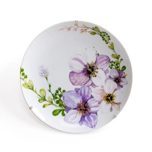 Prato de parede de porcelana Floral