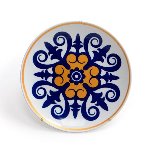 Prato de parede de porcelana Mandala