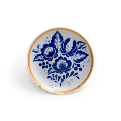 Prato de parede de porcelana Buquê de flores