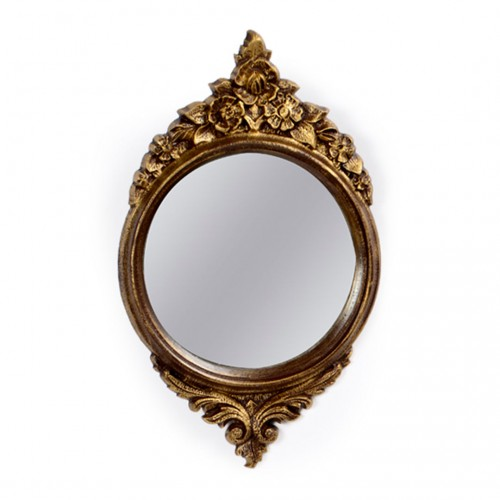 Moldura com espelho Dourado