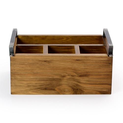 Porta talher de madeira