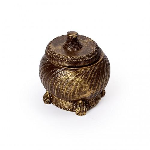 Porta Jóias de resina Dourado