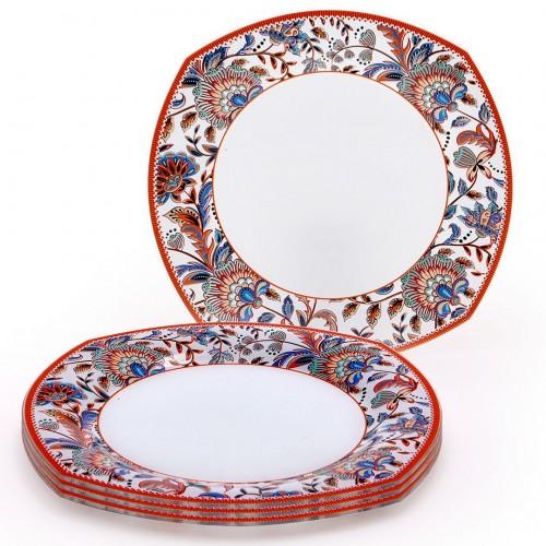Conjunto de pratos rasos Floral