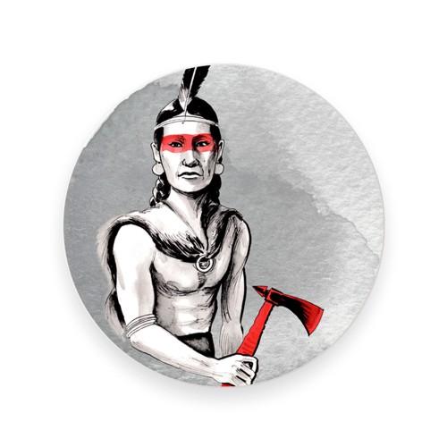 Prato de parede de porcelana Indian