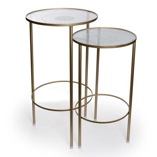 Conjunto de 2 mesas Redondas