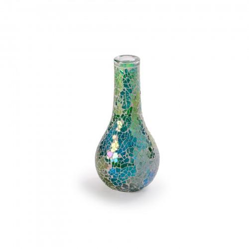 Vaso com mosaicos de Vidro