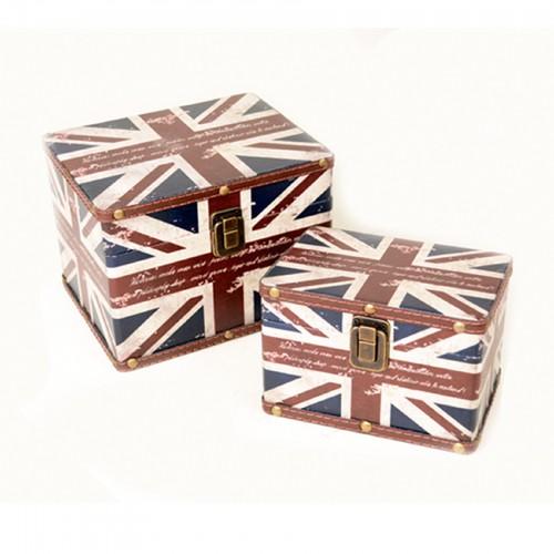 Conjunto de 02 maletas estampa Inglaterra